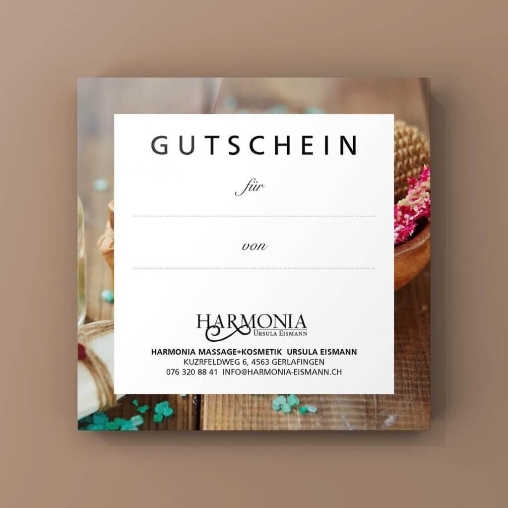Gutschein Harmonia Massage und Kosmetik Ursula Eismann Gerlafingen Solothurn Biberist Obergerlafingen